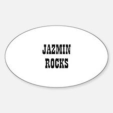 JAZMIN ROCKS Oval Decal