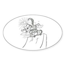 Skateboard Cat Oval Decal
