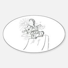 Skateboard Cat Oval Decal