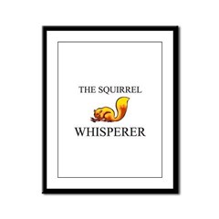 The Squirrel Whisperer Framed Panel Print