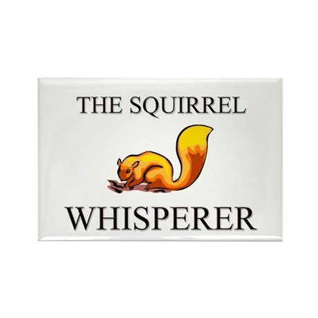 The Squirrel Whisperer Rectangle Magnet