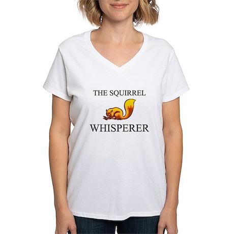 The Squirrel Whisperer Women's V-Neck T-Shirt