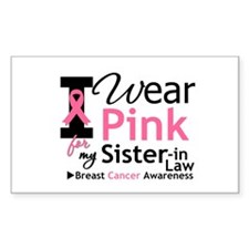 IWearPinkSister-in-Law Rectangle Decal