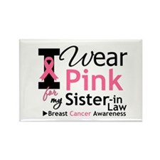 IWearPinkSister-in-Law Rectangle Magnet (10 pack)