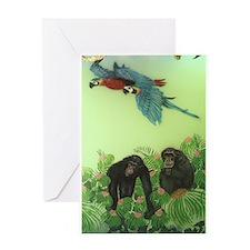 Chimps Greeting Card