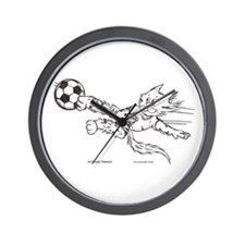 Soccer cat Wall Clock