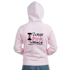 I Wear Pink For My Niece Zip Hoodie