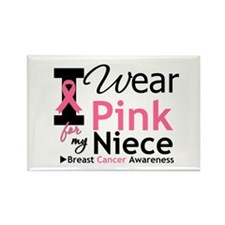 I Wear Pink For My Niece Rectangle Magnet (10 pack