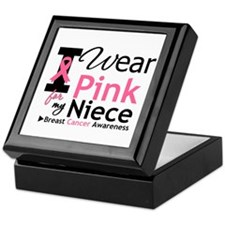 I Wear Pink For My Niece Keepsake Box