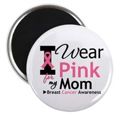 "I Wear Pink Mom 2.25"" Magnet (100 pack)"