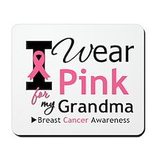 I Wear Pink Grandma Mousepad