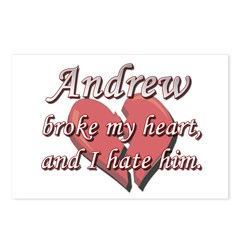 Andrew broke my heart and I hate him Postcards (Pa