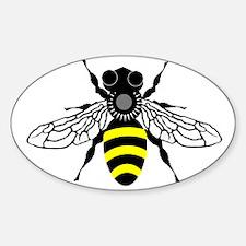 HONEYBEE Oval Sticker (10 pk)