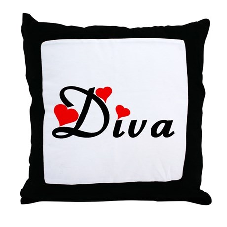Heart Styled Diva Throw Pillow