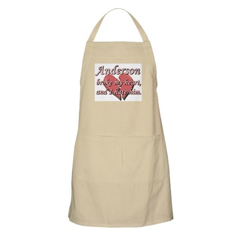 Anderson broke my heart and I hate him BBQ Apron