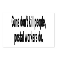 Guns Don't Kill Humor Postcards (Package of 8)