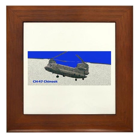 Chinook Helicopter Framed Tile