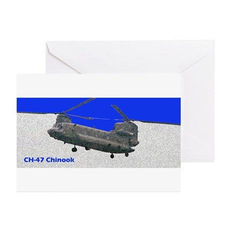 Chinook Helicopter Greeting Cards (Pk of 10)