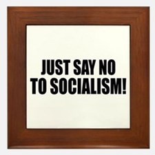 No Socialism Framed Tile