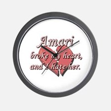 Amari broke my heart and I hate her Wall Clock