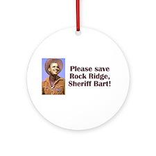 Sheriff Bart Ornament (Round)