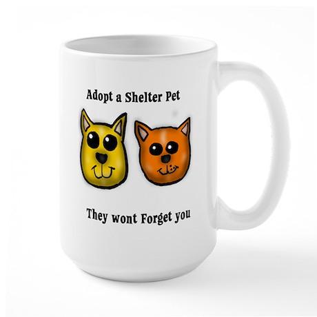 Shelter Pets Large Mug