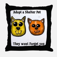 Shelter Pets Throw Pillow