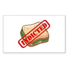 Indicted Ham Sandwich Rectangle Decal