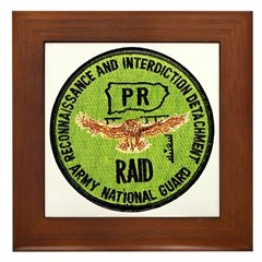 Army National Guard RAID Framed Tile