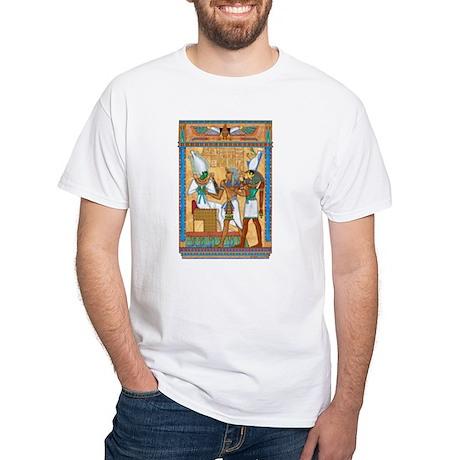 Osiris,Pharoah,Horus White T-Shirt