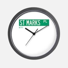 St Marks Place in NY Wall Clock