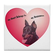 My Heart Tile Coaster