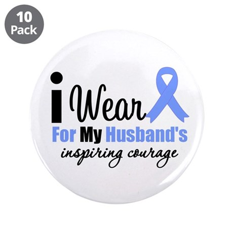 "Prostate Cancer HUSBAND 3.5"" Button (10 pack)"