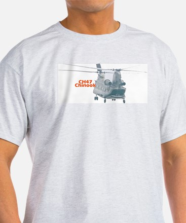 Chinook Helicopter Ash Grey T-Shirt