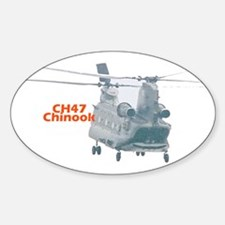 Chinook Helicopter Oval Decal