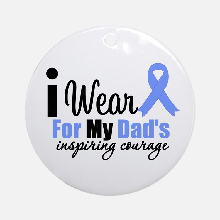 Prostate Cancer DAD Ornament (Round)