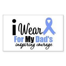 Prostate Cancer DAD Rectangle Decal