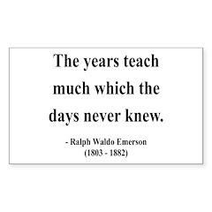 Ralph Waldo Emerson 30 Rectangle Decal