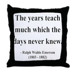 Ralph Waldo Emerson 30 Throw Pillow