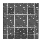 Grey Grid Tile Coaster