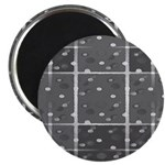 Grey Grid Magnet
