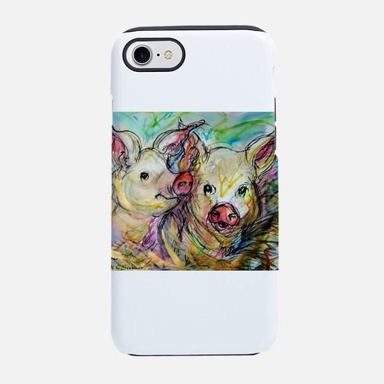 piglets, pig pair iPhone 7 Tough Case