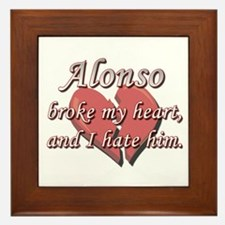 Alonso broke my heart and I hate him Framed Tile