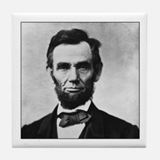 Abraham Lincoln Portrait Tile Coaster