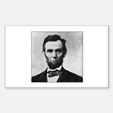 Abraham Lincoln Portrait Rectangle Decal