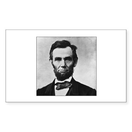 Abraham Lincoln Portrait Rectangle Sticker