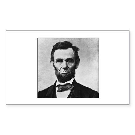 Abraham Lincoln Portrait Rectangle Decal by screamscreens