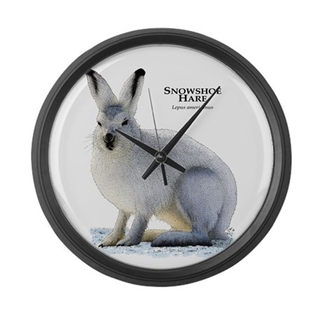 Snowshoe Hare Large Wall Clock