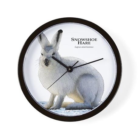 Snowshoe Hare Wall Clock