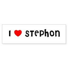 I LOVE STEPHON Bumper Bumper Sticker